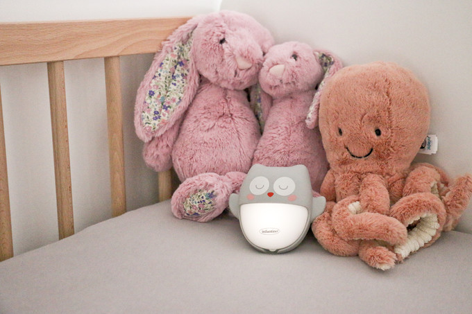 Test et avis | Veilleuse nomade rechargeable chouette - Infantino